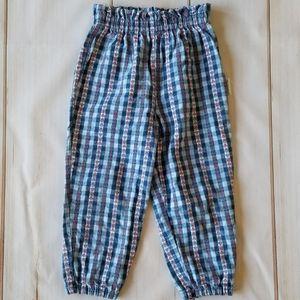 Healthtex VTG Floral Seersucker Jogger Style Pants